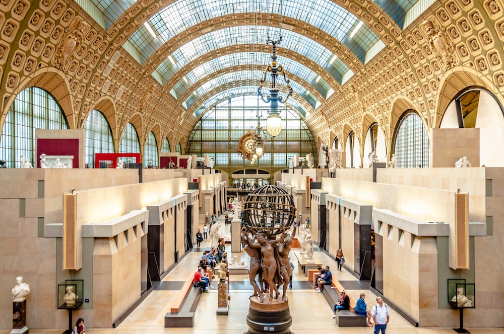 Musee D'Orsay Art Museum in Paris on a guided tour