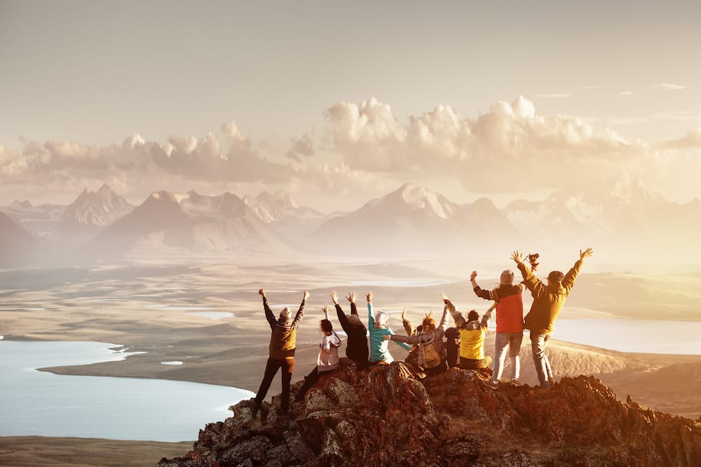 Group mastered hike to top of mountain in Chile