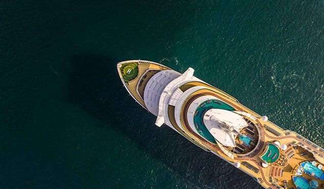 aerial view of luxury yacht boat charter
