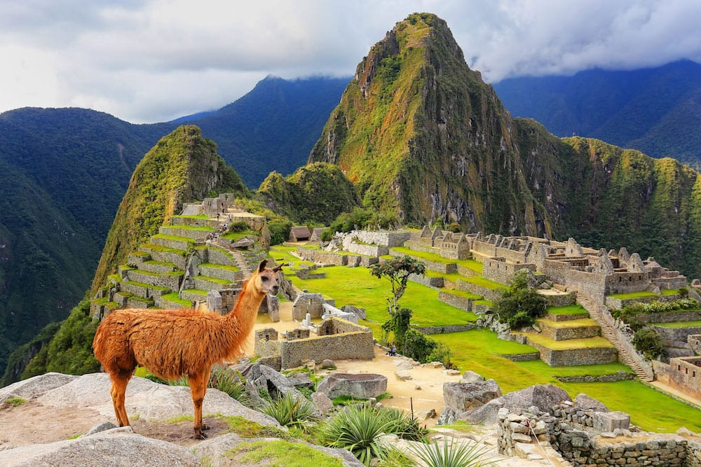 Adventure at Machu Picchu in the Andes mountains