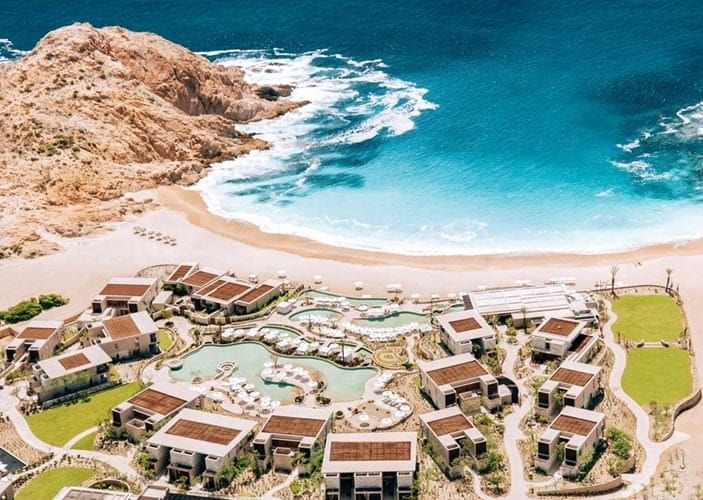 View of the luxury Mexico resort Montage Los Cabos