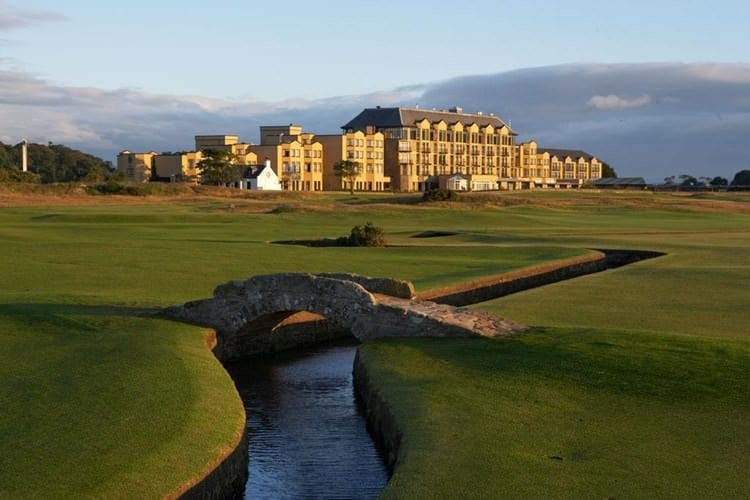 View of the Old Course Hotel at St. Andrews Golf Course