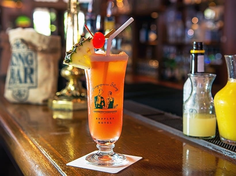 Singapore Sling at the Raffles Singapore