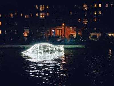 Surface Tension by Tom Biddulph & Barbara Ryan Amsterdam Light Festival