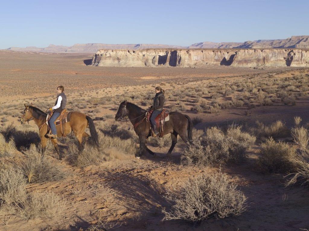 Horseback riding at Amangiri in Utah: one of our favorite domestic destinations