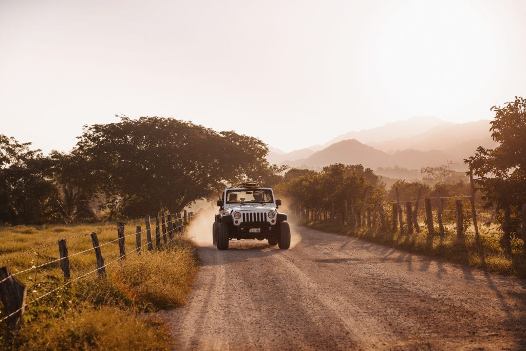 Jeep Tour outside One&Only Mandarina in Riviera Nayarit
